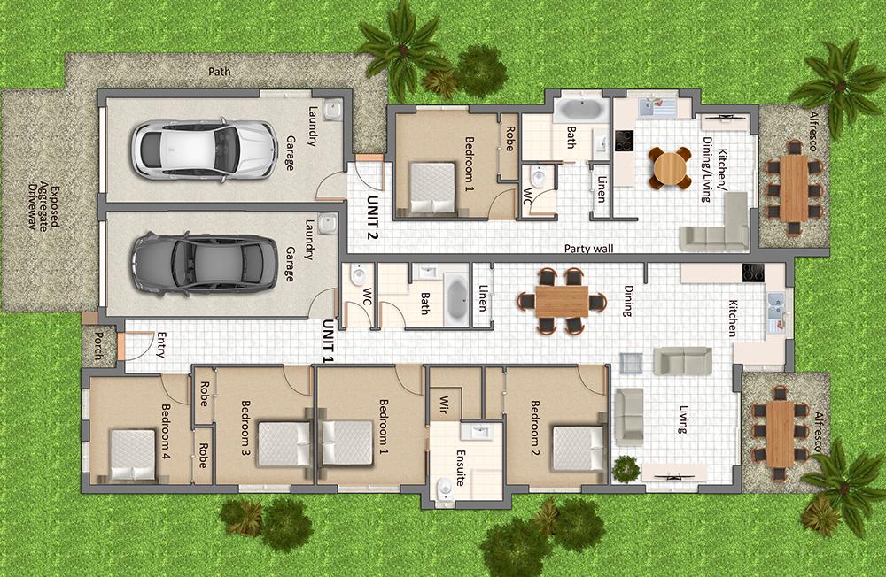 Multiple dwelling on one title(一个产权,多个住宅) - 房贷可能变成商业贷款!