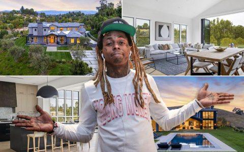 李尔-韦恩在总统特朗普赦免后购买的1540万元的洛杉矶新豪宅内景