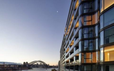 悉尼新的5亿多元的豪华公寓大楼的内部情况