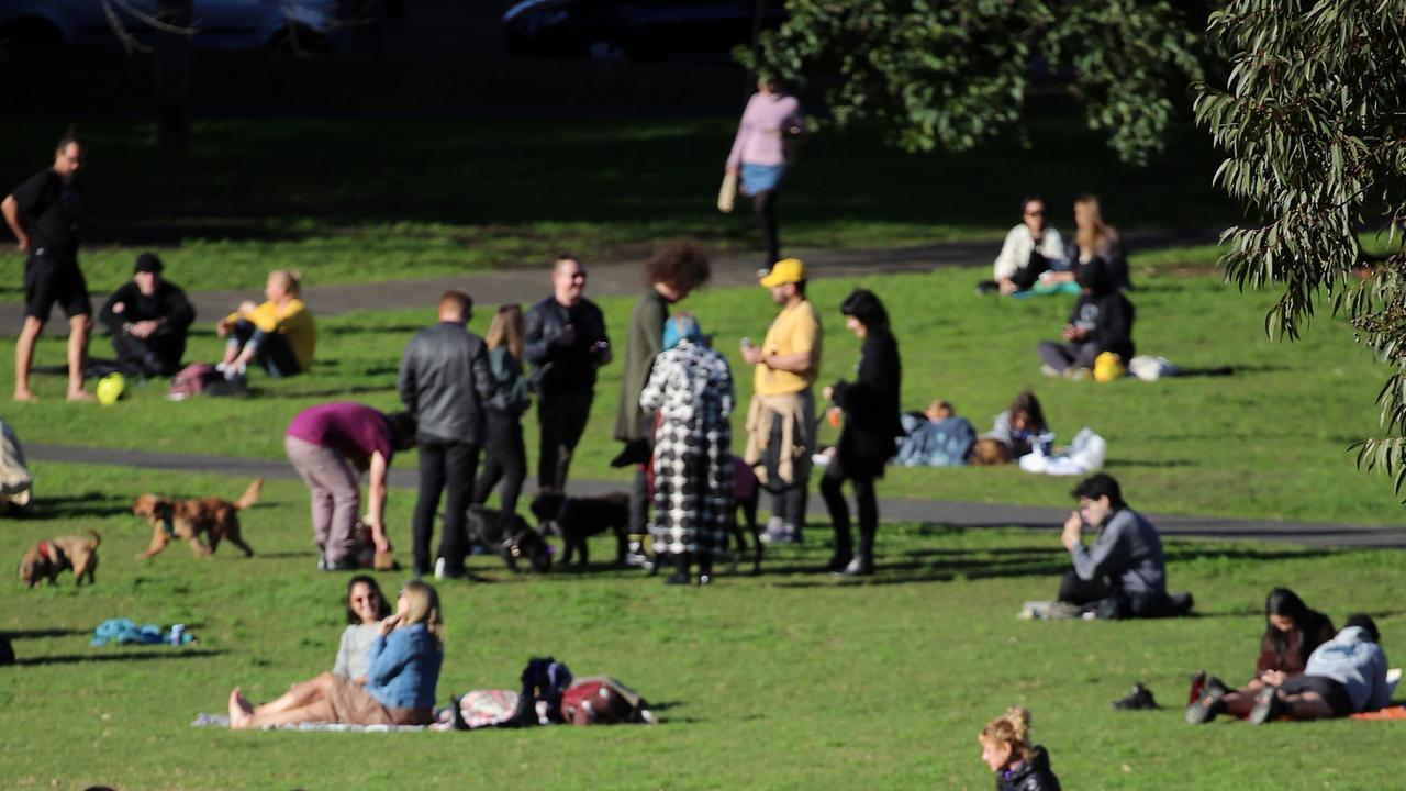 Picnics will be allowed in groups of five outside hotspots from September 13 – provided everyone is vaccinated. Picture: NCA NewsWire / Nicholas Eagar